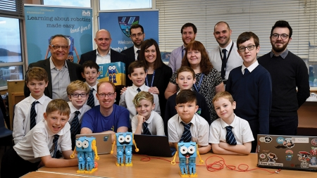 Marty the Robot joins the teaching team atDalgety Bay Primary School