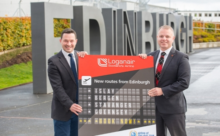 LOGANAIR ADDS FOUR NEW ROUTES FROM EDINBURGH AIRPORT